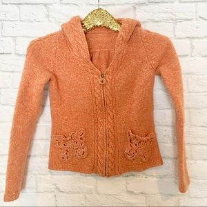 Sleeping on Snow Orange Zip-Up Sweater